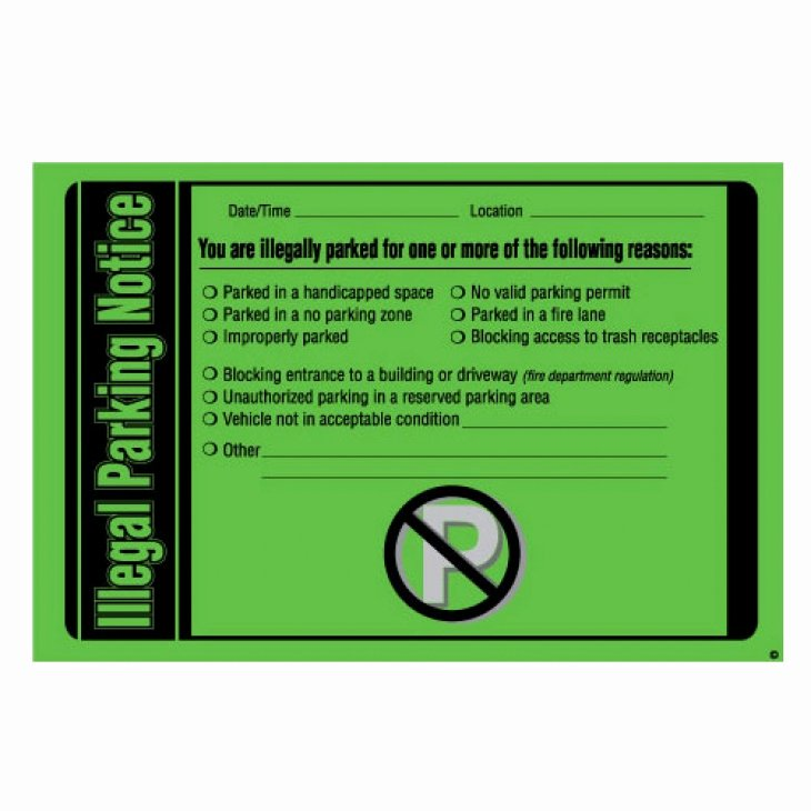 Parking Warning Notice Template Lovely Parking Violation Free Shipping Illegal Parking Notice