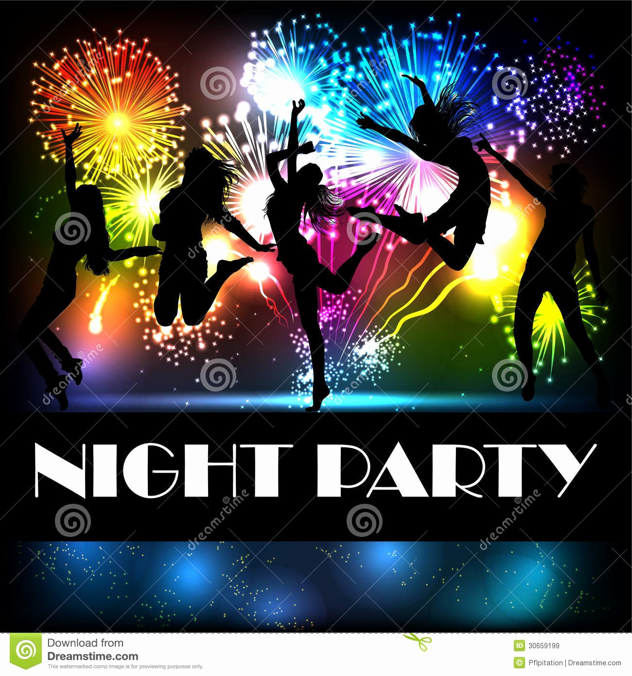 Party Backgrounds for Flyers Elegant Party Vector Flyer Stock Vector Illustration Of Element