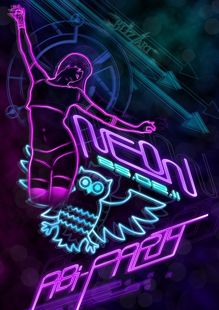 Party Backgrounds for Flyers Luxury Neon Party Flyer by theblizzart On Deviantart
