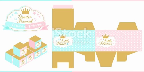 Party Favor Box Template Beautiful Royal Baby Shower Gender Reveal Party Prince Princess