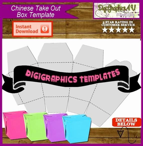 Party Favor Box Template Beautiful Take Out Party Favor Box Printable Template Instant