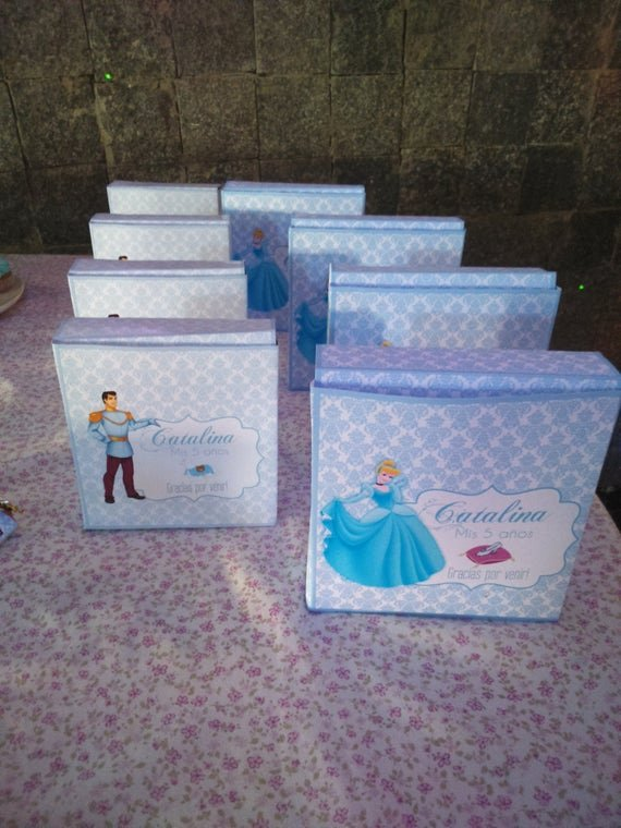 cinderella printable party favor boxes