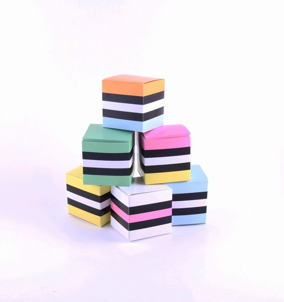 Party Favor Box Template New Liquorice Allsorts Party Favor Boxes 6 by Paperscissorspop