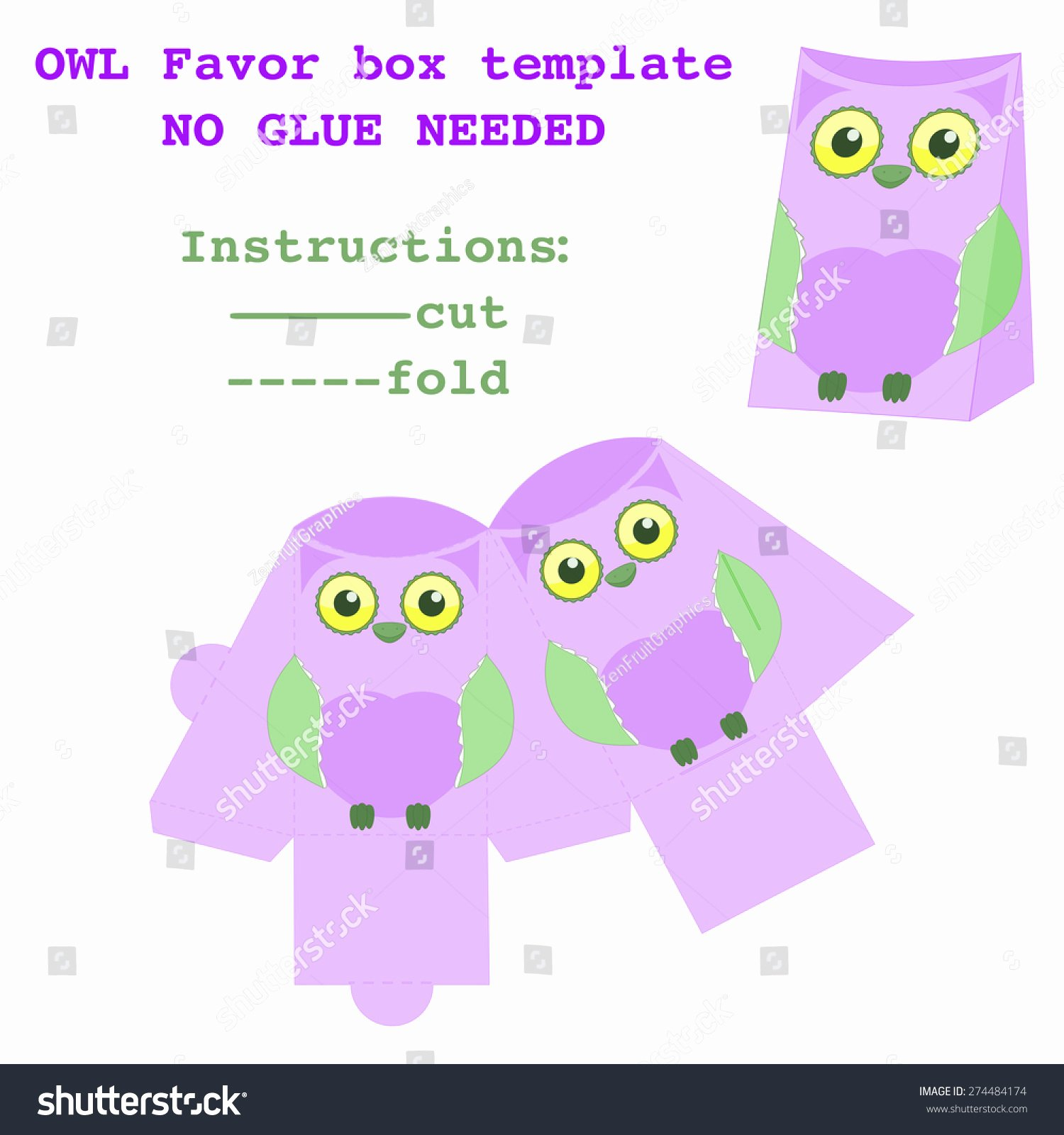 Party Favor Box Template Unique Packaging Box Design Favor Box Template Owl Pattern Design