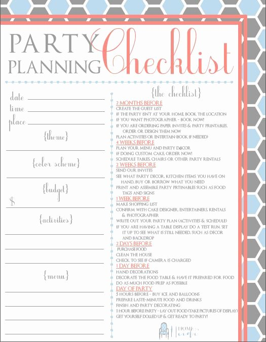 Party Planning Checklist Printable Awesome 25 Best Ideas About Party Planning Printable On Pinterest
