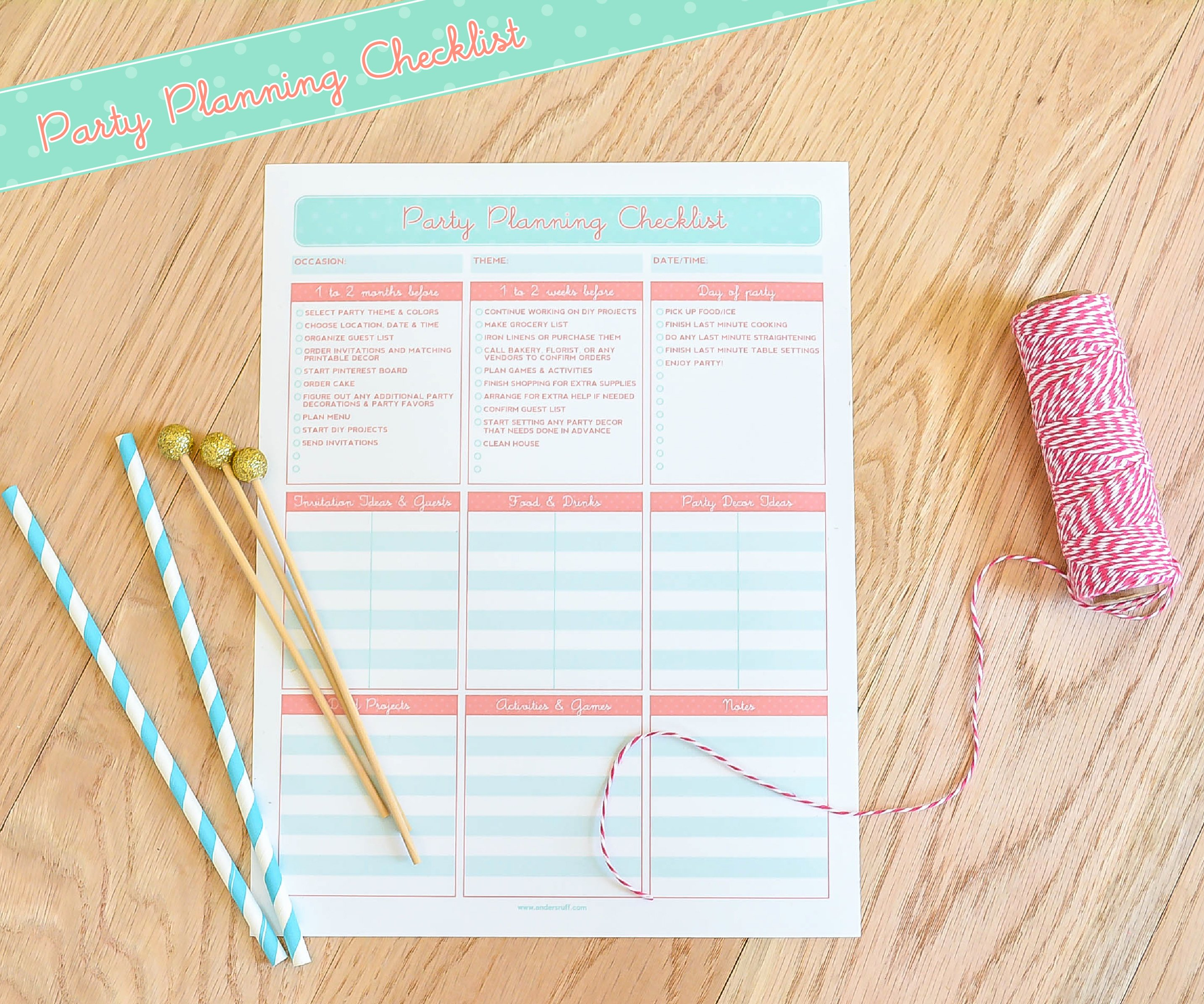 Party Planning Checklist Printable Fresh Ruff Draft Free Printable Party Planning Checklist