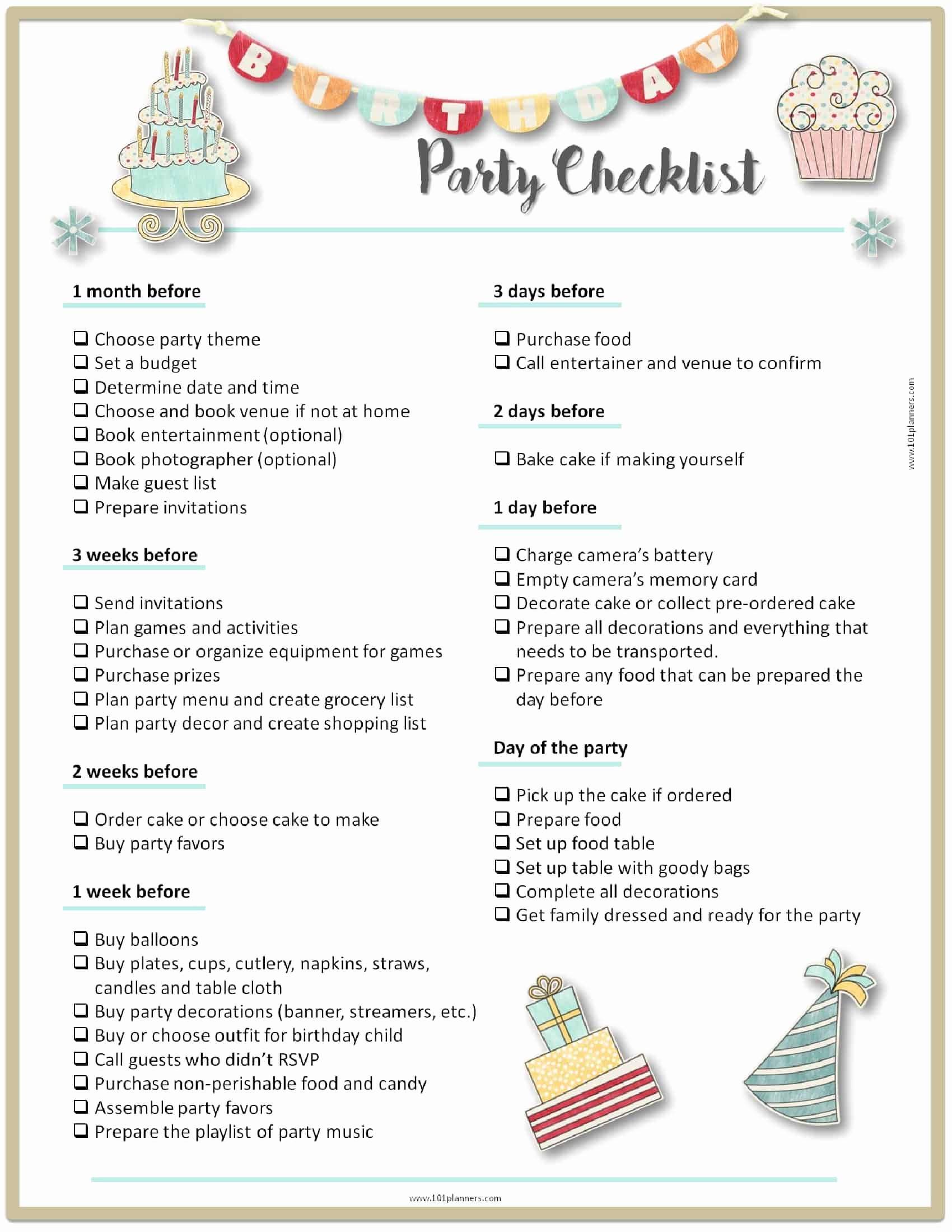 Party Planning Checklist Printable Luxury Party Planning Template