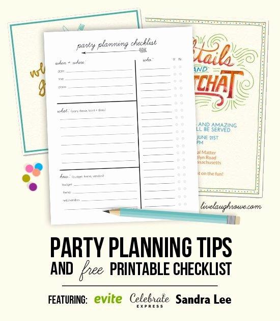 Party Planning Checklist Printable Unique Party Planning Tips & Printable Checklist Live Laugh Rowe