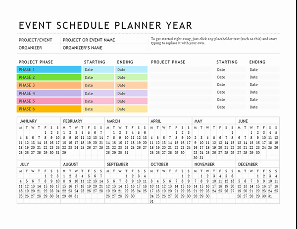 Party Planning Template Excel Luxury event Planning Template