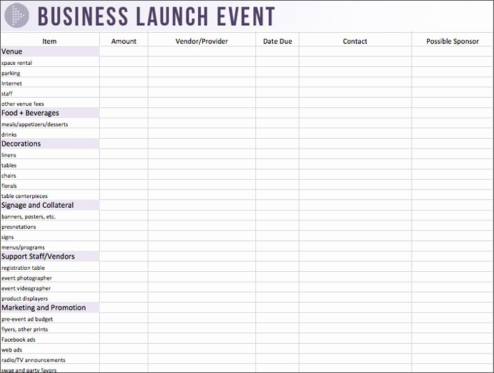 Party Planning Template Excel New Party event Bud Planner Examples to Inspire You