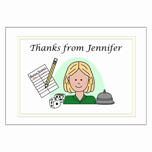 Party Thank You Note Awesome Bunco Party Thank You Note Cards – Mandys Moon