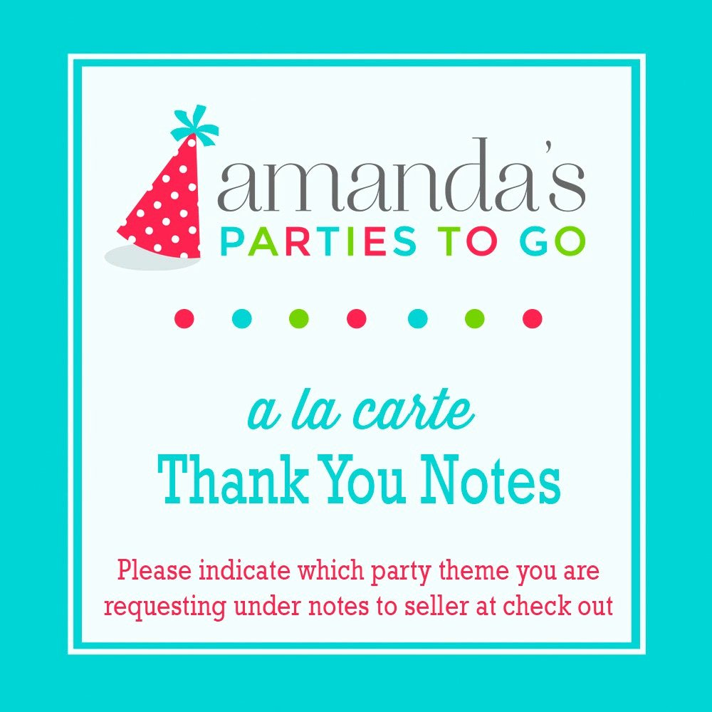 Party Thank You Note Best Of Thank You Note Printable A La Carte Party Single