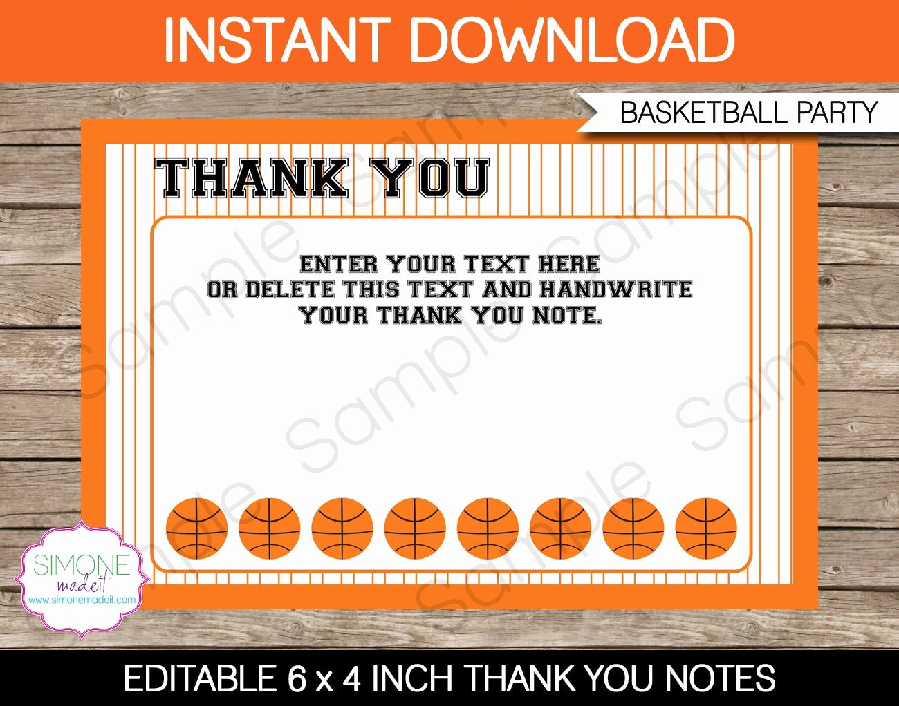 Party Thank You Note Fresh Basketball Party Thank You Notes Basketball Thank You Cards