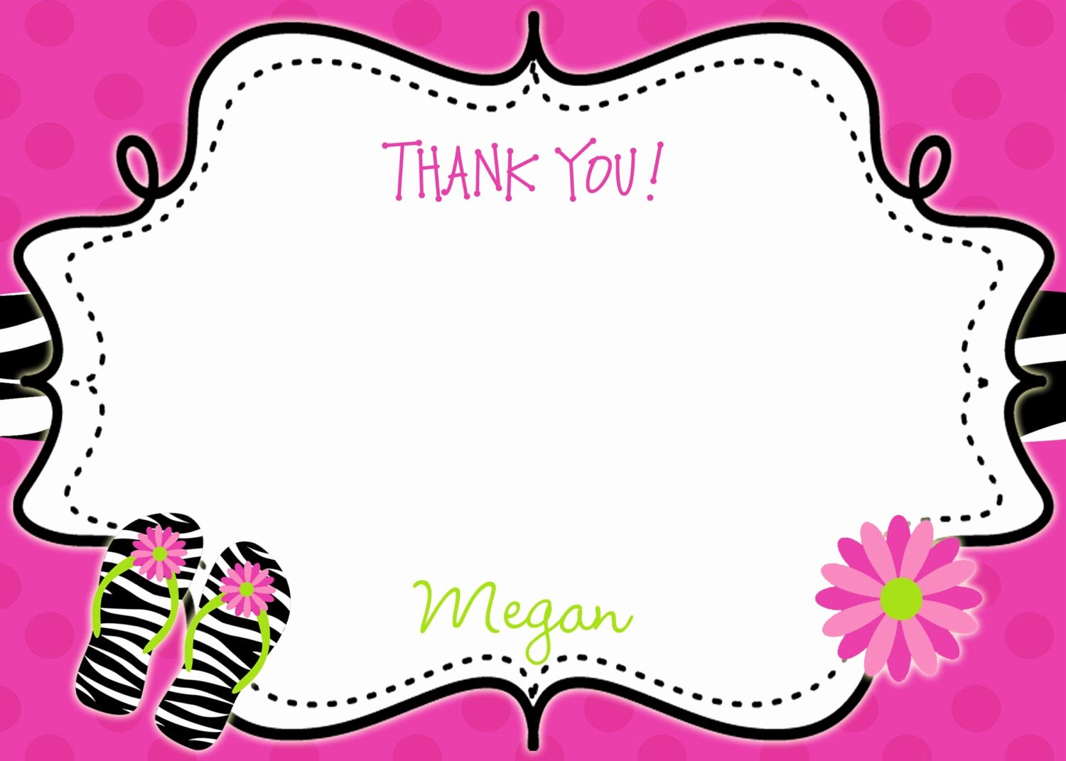 Party Thank You Note Fresh Pool Party Birthday Party Thank You Note Flip Flops
