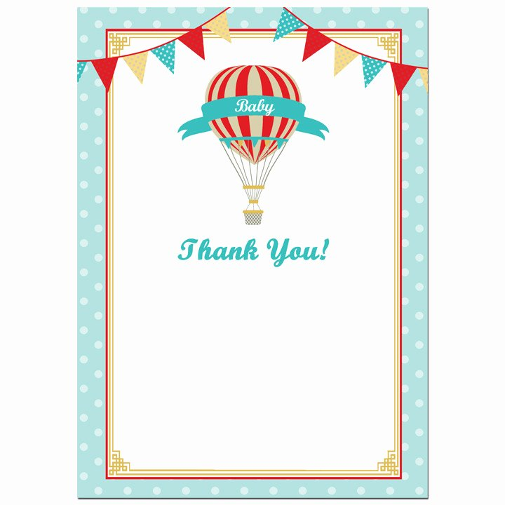 Party Thank You Note Lovely Vintage Hot Air Balloon Boy Party Thank You Notes