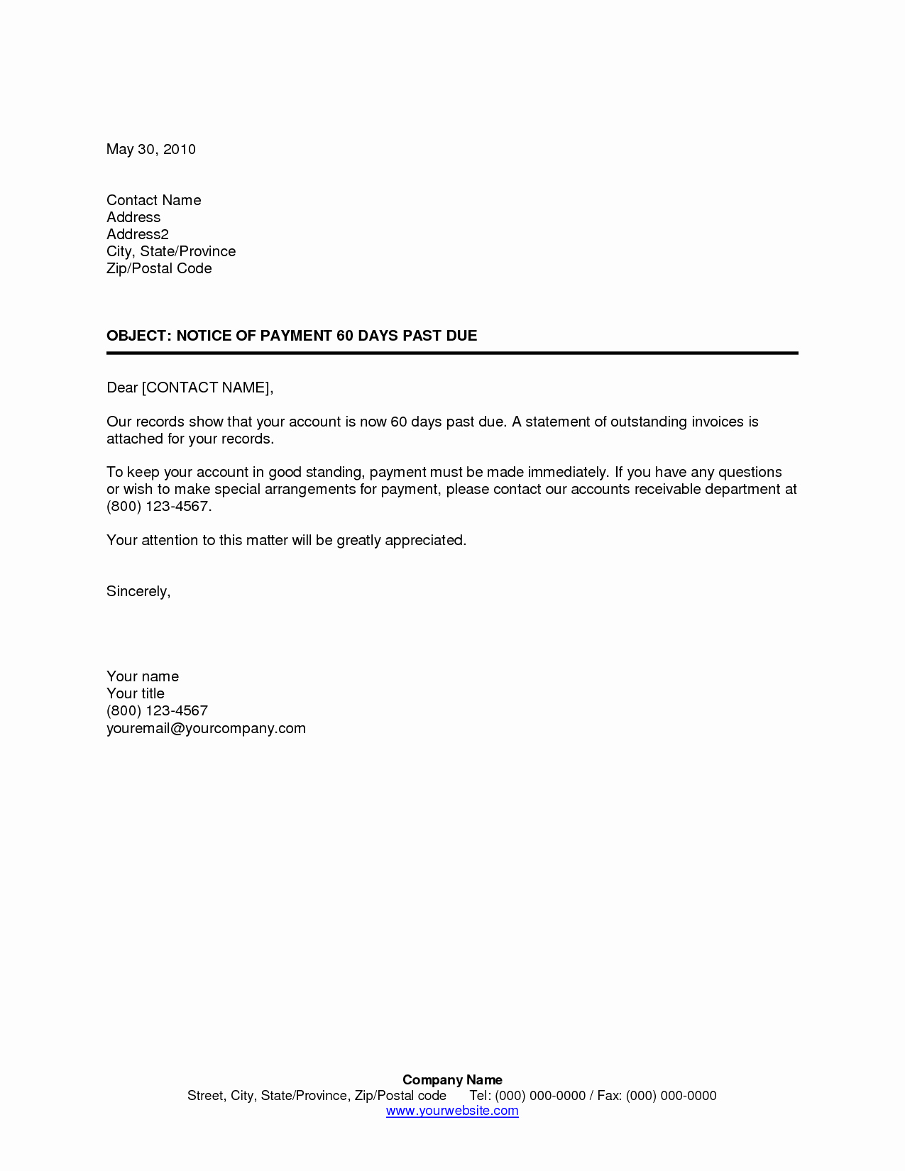 Past Due Rent Letter Inspirational Best S Of 30 Day Past Due Letter 30 Day Past Due