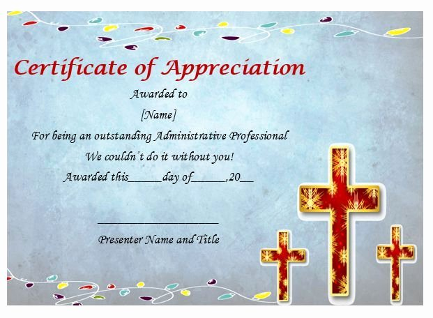 Pastor Appreciation Day Program Template Beautiful Pastor Appreciation Certificate Sample
