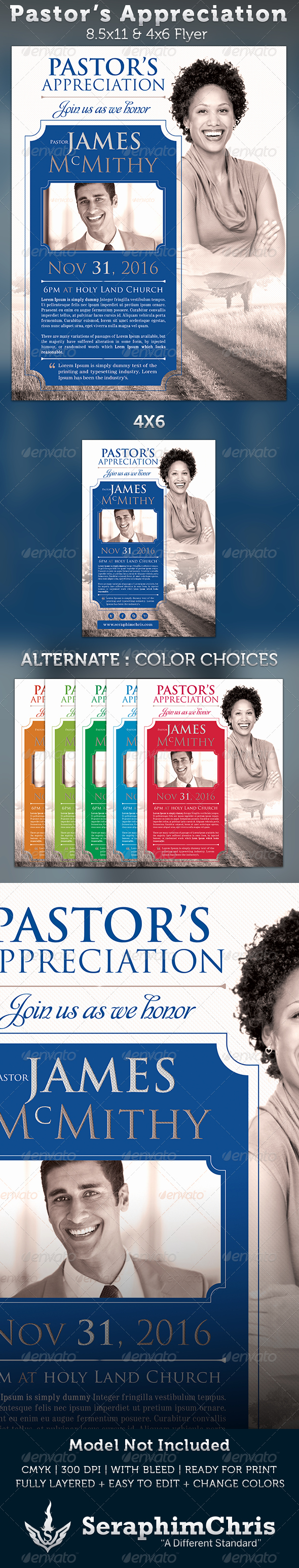 Pastor Appreciation Day Program Template Beautiful Pastor S Appreciation Church Flyer Template $6 00