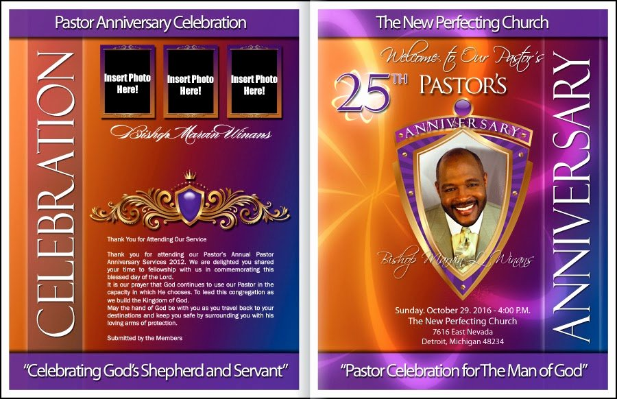Pastor Appreciation Day Program Template Elegant Pastor Anniversary