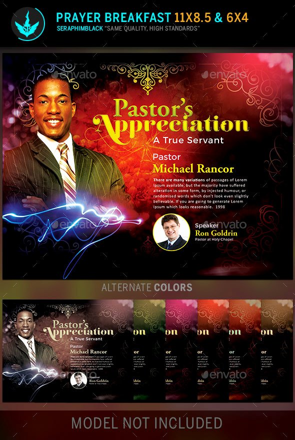 Pastor Appreciation Day Program Template Fresh Church Luncheon Program format Tinkytyler Stock