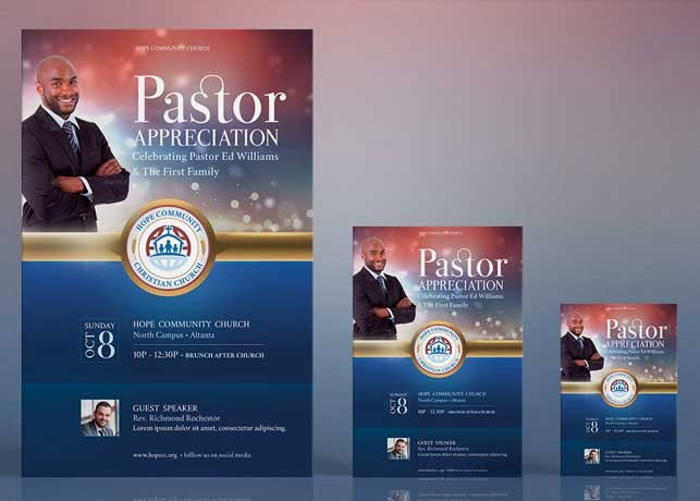 Pastor Appreciation Day Program Template Fresh Pastor Appreciation Flyer Poster Template by Godserv On