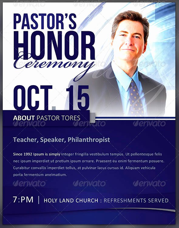 Pastor Appreciation Day Program Template Fresh Pastor Appreciation Flyer Templates