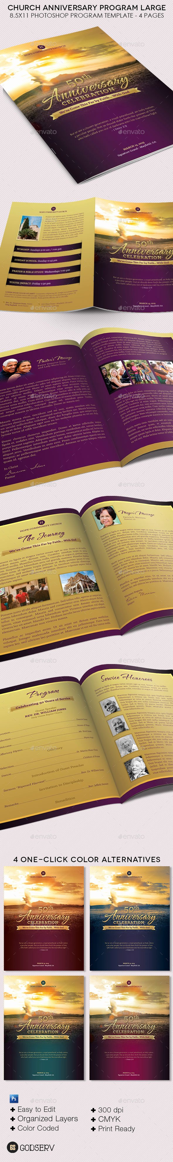 Pastor Appreciation Day Program Template Inspirational Church Anniversary Service Program Template