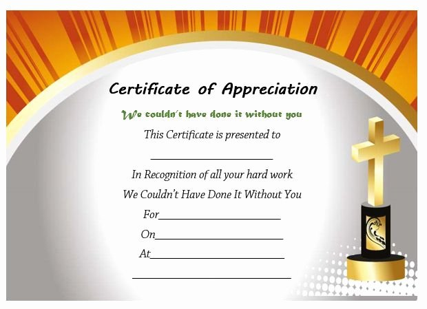 Pastor Appreciation Day Program Template Inspirational Pastor Appreciation Certificate Template Free