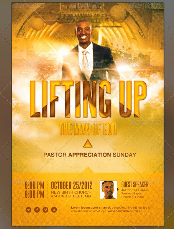 Pastor Appreciation Day Program Template Lovely Pastor Appreciation Flyer Templates