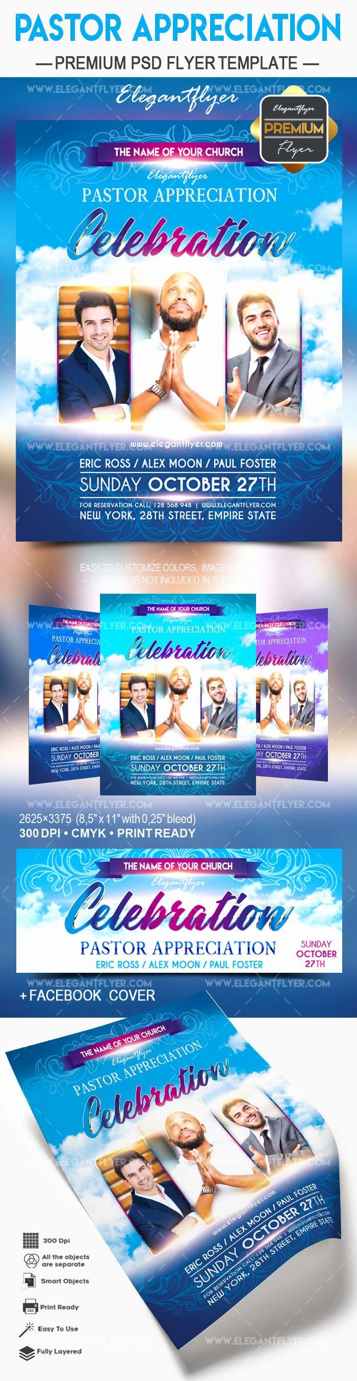 Pastor Appreciation Day Program Template Luxury Flyer for Pastors Appreciation Day – by Elegantflyer