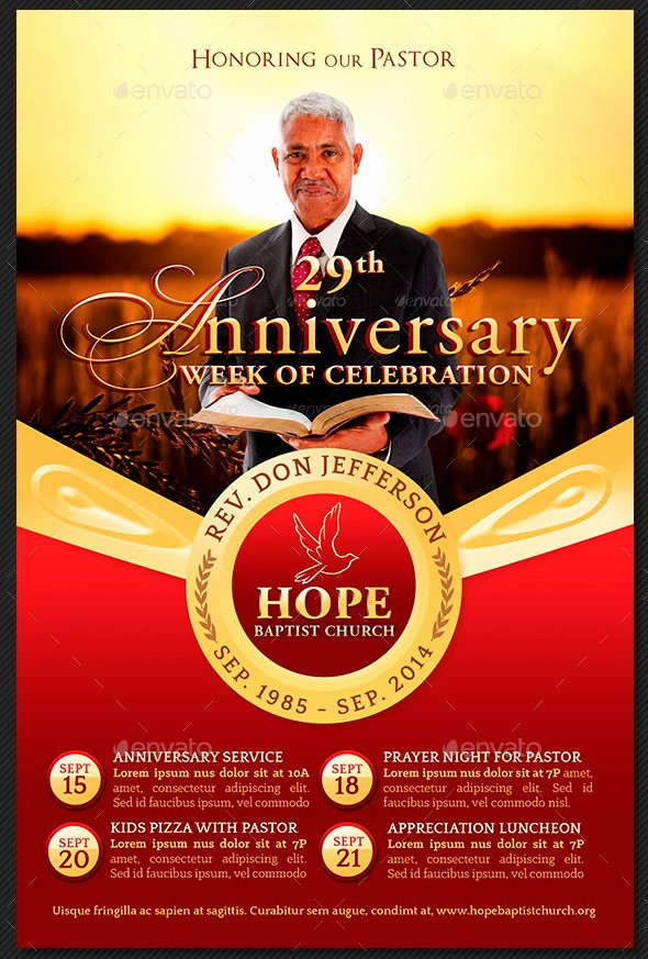 Pastor Appreciation Day Program Template Luxury Pastor Appreciation Flyer Templates