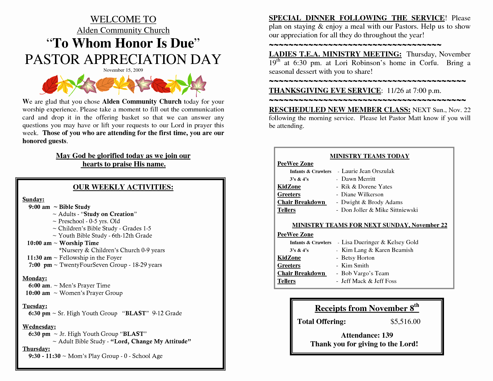 Pastor Appreciation Day Program Template New Best S Of Appreciation Program Outline Pastor