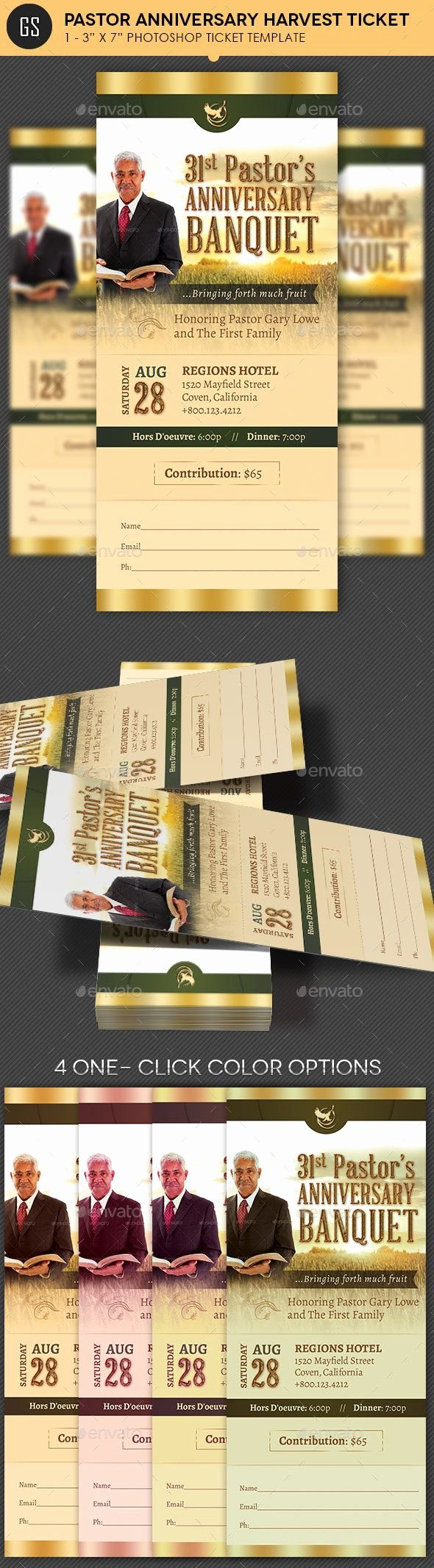 Pastor Appreciation Day Program Template New Pastor Anniversary Harvest Ticket Template — Psd Template