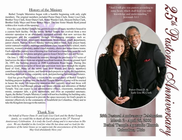 Pastor Appreciation Day Program Template New Pastor Anniversary Program Google Search