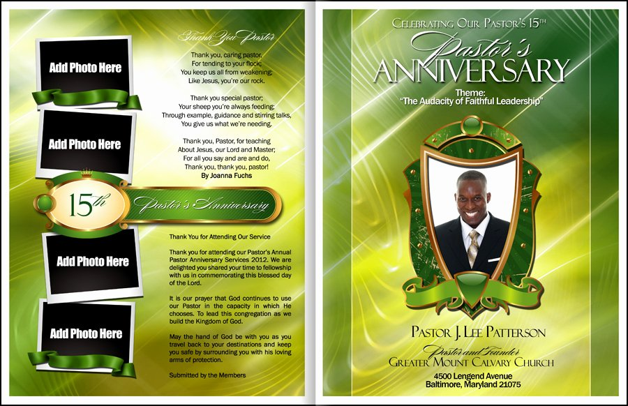 Pastoral Anniversary Program Templates Awesome Abundant Pastor Anniversary Program