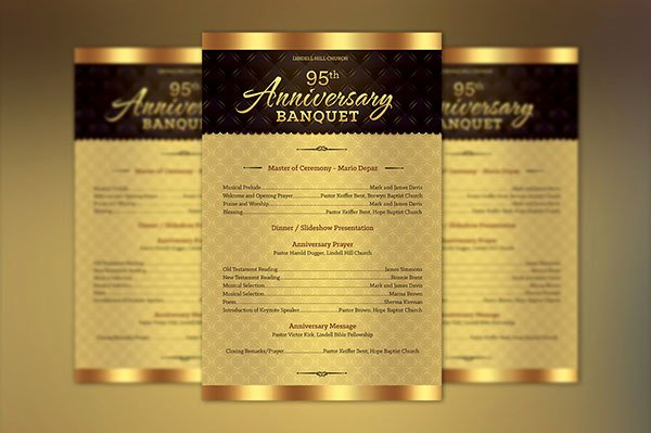 Pastoral Anniversary Program Templates Awesome Church Anniversary E Sheet Program Template On Behance