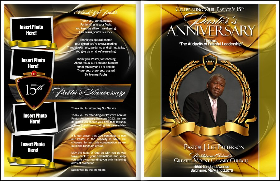 Pastoral Anniversary Program Templates Awesome Sacrament Pastor Anniversary Program