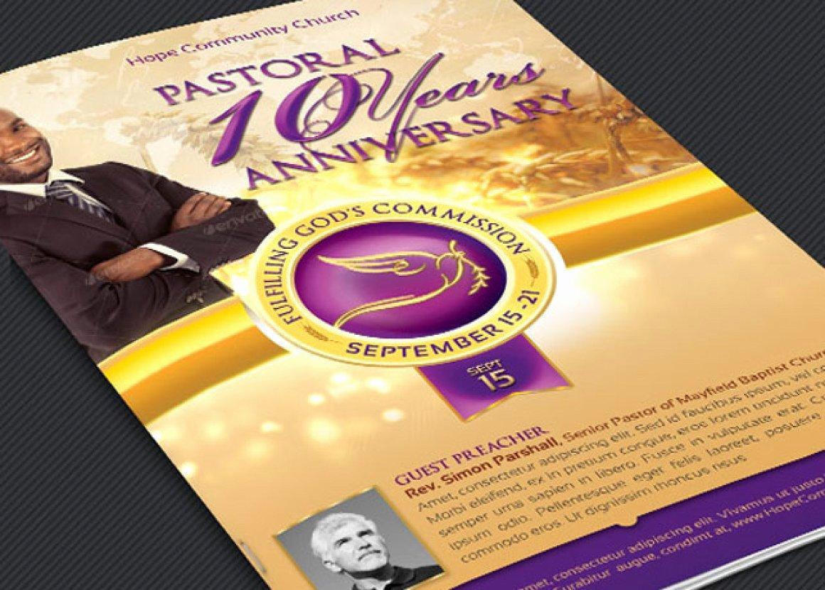 Pastoral Anniversary Program Templates Beautiful 17 Best Pastor Anniversary Program Templates 2018