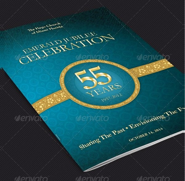 Pastoral Anniversary Program Templates Best Of 20 Cover Templates Free Psd Vector Eps Png format