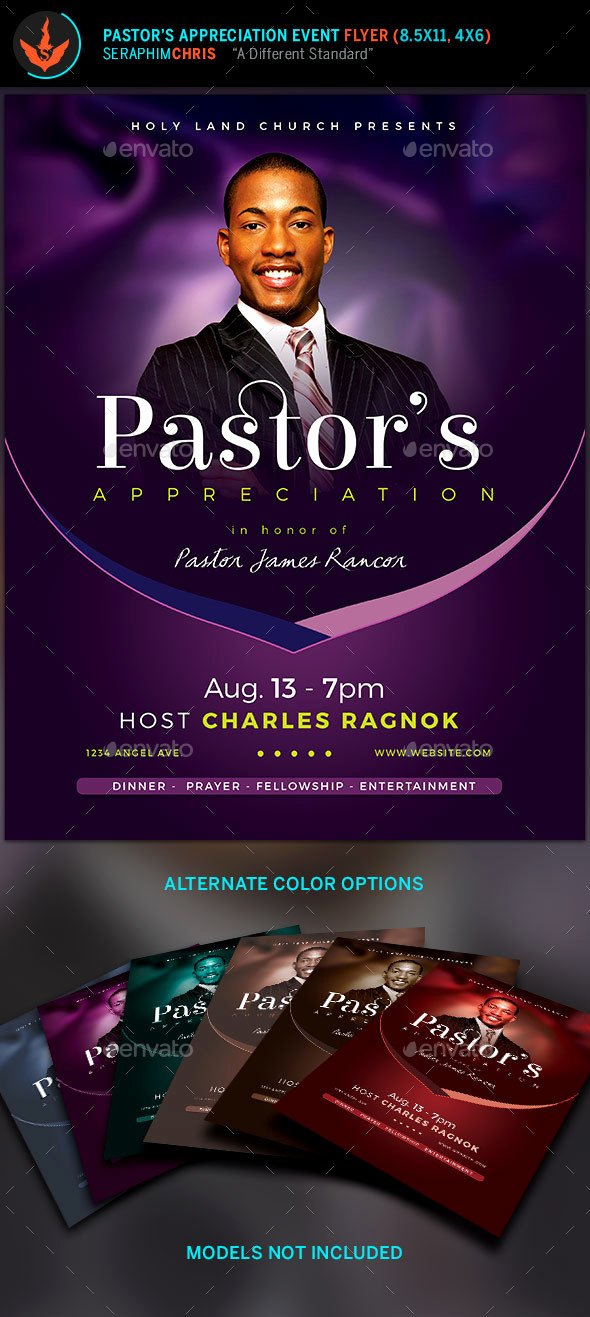 Pastoral Anniversary Program Templates Best Of Lavender Pastor S Appreciation Church Flyer by
