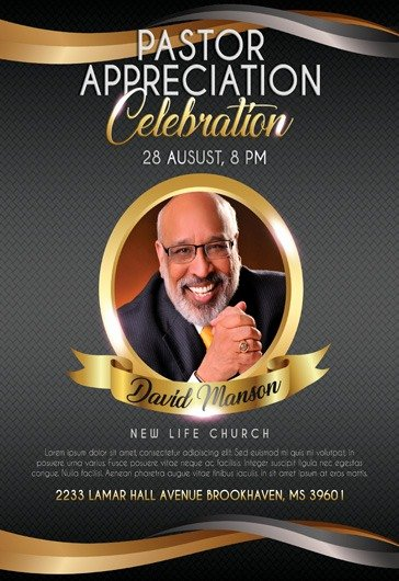Pastoral Anniversary Program Templates Elegant theme for Pastor Appreciation Celebration Flyer – by