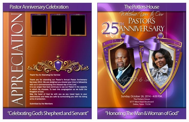 Pastoral Anniversary Program Templates Fresh Kingdom Design Divine Pastor and Wife Anniversary
