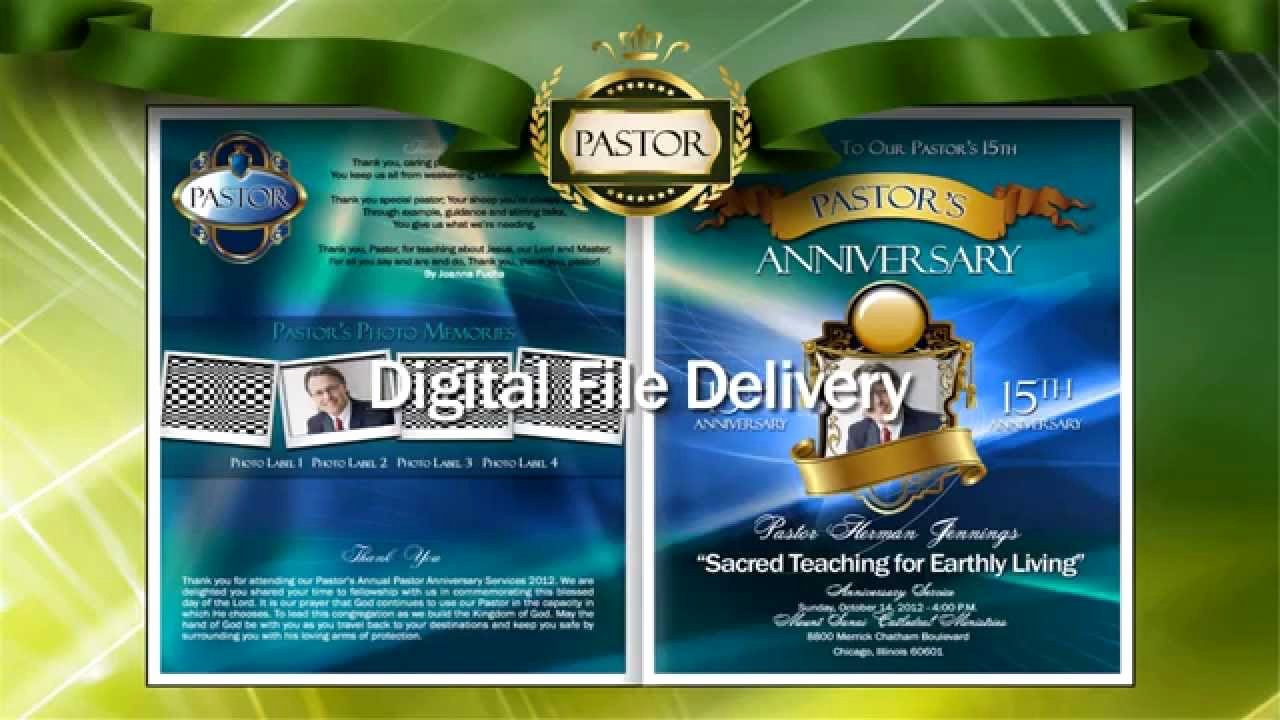 Pastoral Anniversary Program Templates Fresh Pastor Anniversary Program