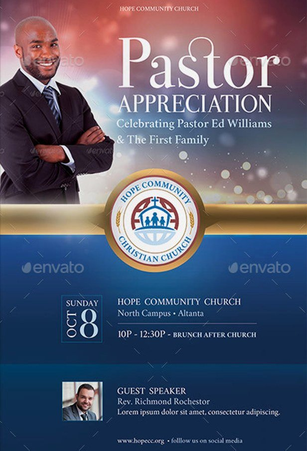 Pastoral Anniversary Program Templates Fresh Pastor Appreciation Flyer Templates