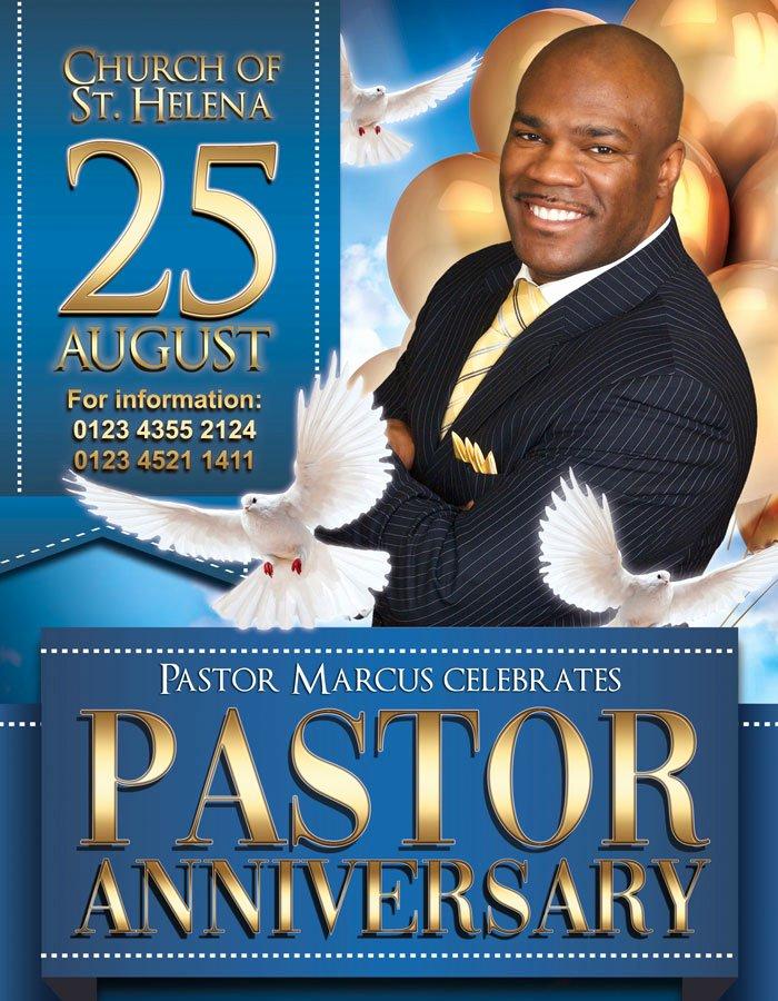 Pastoral Anniversary Program Templates Inspirational Pastor Anniversary – Free Flyer Psd Template – by Elegantflyer