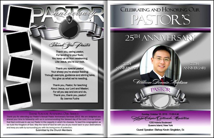 Pastoral Anniversary Program Templates Inspirational Prestigious Pastor Anniversary Program