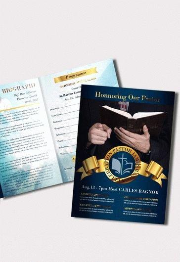Pastoral Anniversary Program Templates Unique Pastor Anniversary Free Brochure Program – by Elegantflyer