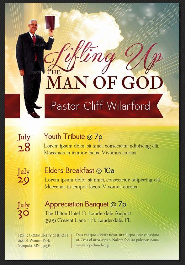 Pastoral Anniversary Program Templates Unique Pastor Appreciation Flyer Templates