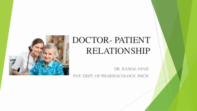 Patient First Doctor Note New Doctor Patient Relationship