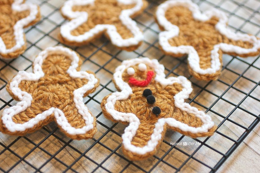 Patterns for Gingerbread Men Fresh Crocheted Gingerbread Man Cookie Pattern Repeat Crafter Me